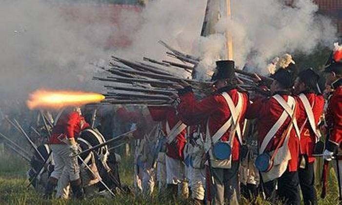 Reencenação da batalha de Waterloo Foto: Stock Photos
