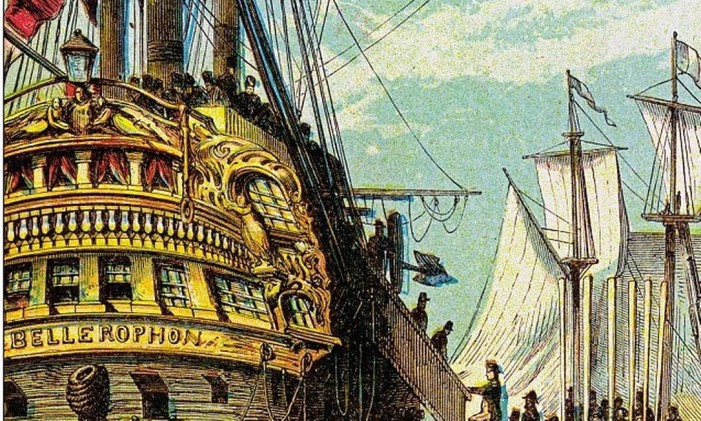 O navio Bellerophon Foto: Getty Images