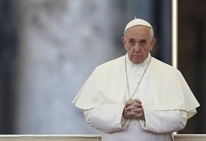Papa Francisco divulgou encíclica nesta quinta-feira Foto: TONY GENTILE / REUTERS