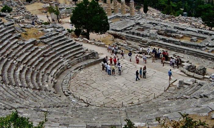 Delfos, na Grécia. Foto: @mtoldi / Reprodução/Instagram