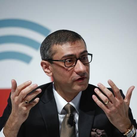 Rajeev Suri, diretor-presidente da Nokia Foto: Simon Dawson / Bloomberg