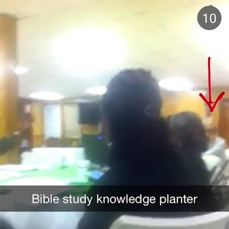 Vídeo de jovem mostra suspeito antes de ataque Foto: Reprodução/Snapchat