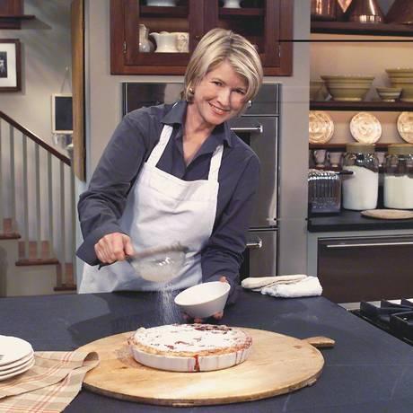 Martha Stewart no estúdio do programa que era tinha uma das maiores audiências da CBS. Com queda no público, show foi cancelado Foto: Divulgação/CBS/26-5-2000