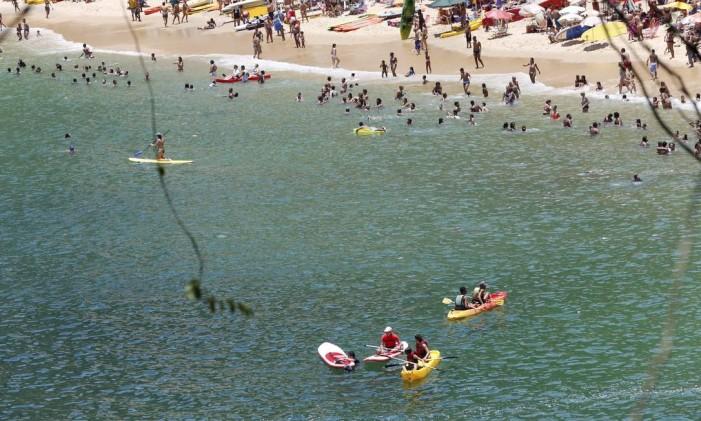Praia Vermelha está própria para banho Foto: Cezar Loureiro / Agência O Globo