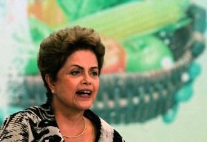 A presidente Dilma Rousseff Foto: Jorge William/17-6-2015