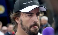 Alonso foi punido com a perda de 20 posições no grid de largada na Áustria Foto: JOE KLAMAR / AFP