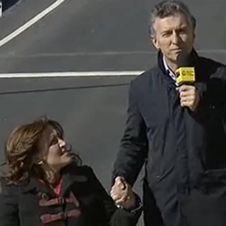 Mauricio Macri escolhe Gabriela Michetti como vice-presidente Foto: La Nacion / Reprodução TV Argentina