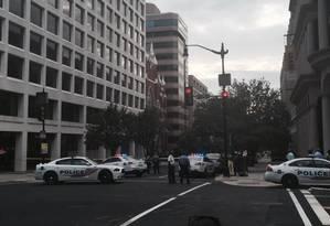 Polícia de Washington fecha entorno de igreja Foto: Reprodução/Twitter