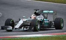 Britânico Lewis Hamilton conquistou a pole para o GP da Áustria Foto: ANDREJ ISAKOVIC / AFP