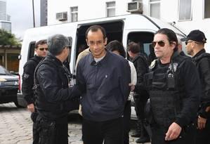 Marcelo Odebrecht chega ao IML para realização de exame de corpo delito Foto: Geraldo Bubniak / Agência O Globo