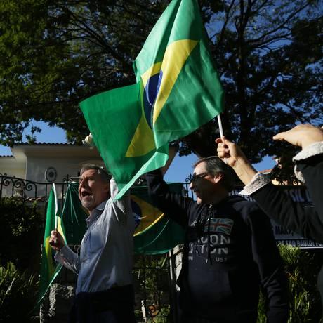 Protesto contra o governo da Venezuela e a prisão de politicos da oposição ao governo Maduro Foto: Fernando Donasci / Agência O Globo