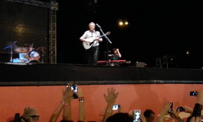 Caetano Veloso encerra a Virada Cultural de São Paulo com show na Praça Júlio Prestes Foto: Alessandro Giannini / Agência O Globo