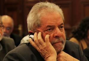 Ex-presidente em conferência no Instituto Lula Foto: Michel Filho / Agência O Globo