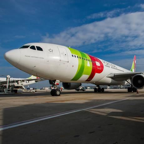 Airbus da TAP na pista do Aeroporto Internacional de Lisboa Foto: Mario Proenca / Bloomberg