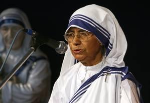 Irmã Nirmala ocupou o posto de Madre Teresa de 1997 a 2009 Foto: DESHAKALYAN CHOWDHURY / AFP