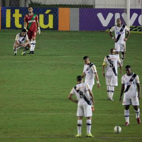 No jogo contra o Cruzeiro, em 13 de junho, Vasco perdeu de 3 a 1 em São Januário Foto: Pedro Kirilos / Agência O Globo