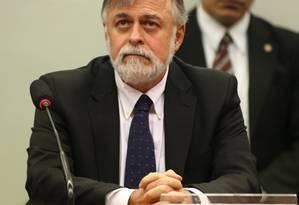 Ex-diretor de Abastecimento da Petrobras, Paulo Roberto Costa, em depoimento à CPI da Petrobras na Câmara em maio Foto: Ailton de Freitas / O Globo / Arquivo 05/05/2015