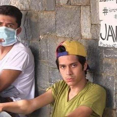Jovens venezuelanos em greve de fome: eles querem a libertação dos presos políticos Foto: El Nacional/GDA