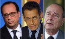 Hollande, Sarkozy e Chirac foram alvo da espionagem da NSA Foto: AFP, AFP e Reuters / Montagem