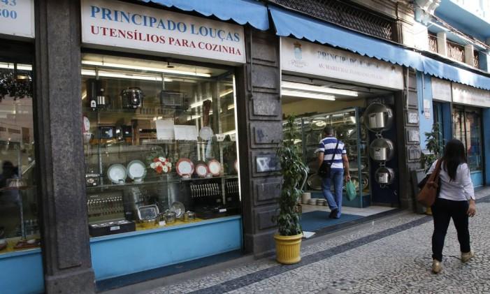 Principado das Louças, na Avenida Marechal Floriano Foto: Marcos Tristão / O Globo