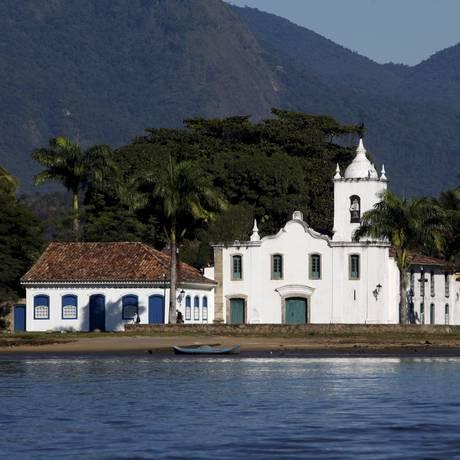 Igreja Nossa Senhora das Dores, construída em 1800, em Paraty. Foto: Gustavo Stephan / Agência O Globo