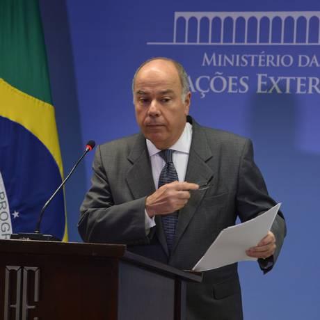 Ministro de Relações Exteriores, Mauro Vieira Foto: Agência Brasil / Valter Campanato
