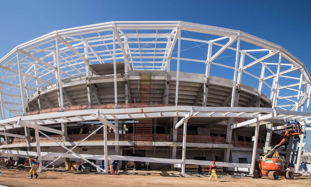 O Centro de Tênis, com capacidade para 10 mil pessoas, também já ganha rampas de acesso Renato Sette Camara / /Prefeitura do Rio