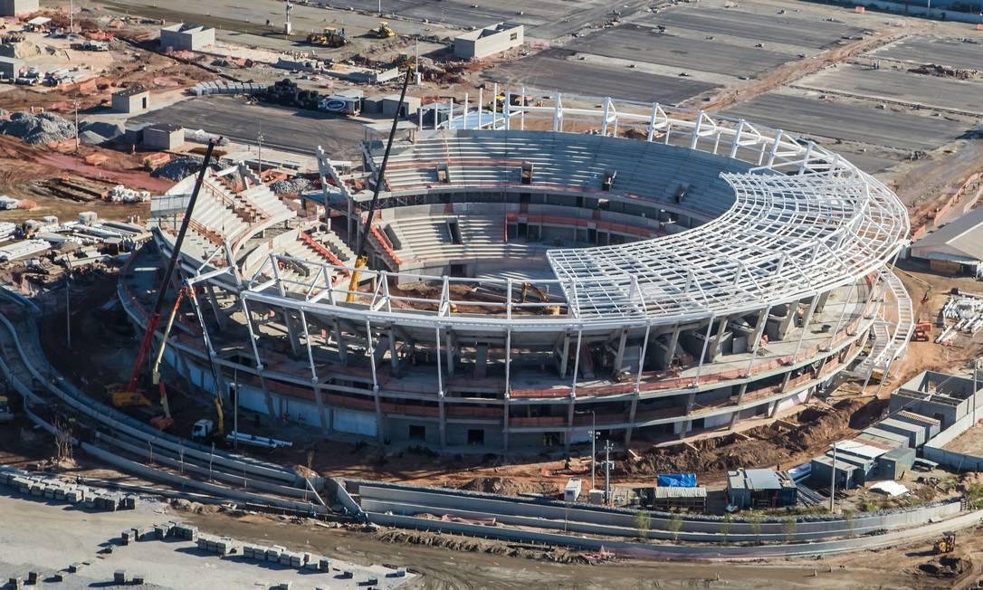 A imagem aérea do Centro de Tênis, onde acontecerão os jogos mais importantes do torneio Renato Sette Camara / /Prefeitura do Rio