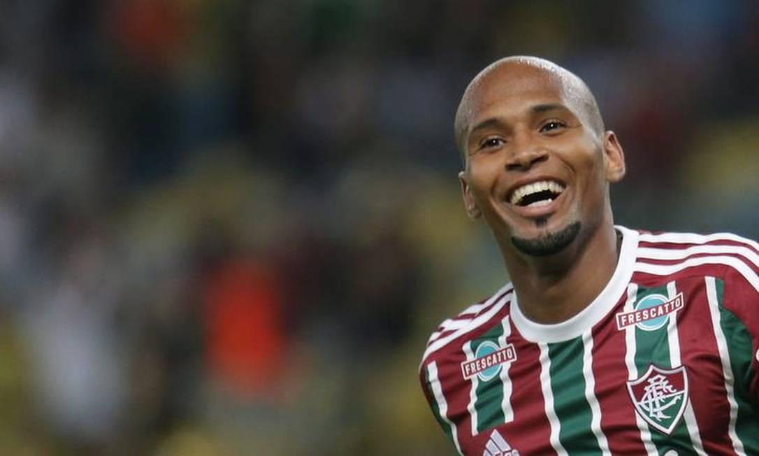 A alegria de Wellington Silva com o gol no Maracanã Marcelo Theobald / Extra