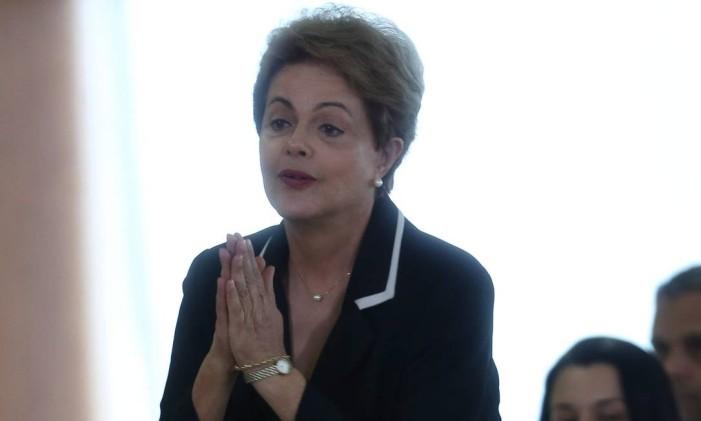 A presidente Dilma Rousseff no lançamento do Plano Nacional de Exportações Foto: ANDRE COELHO
