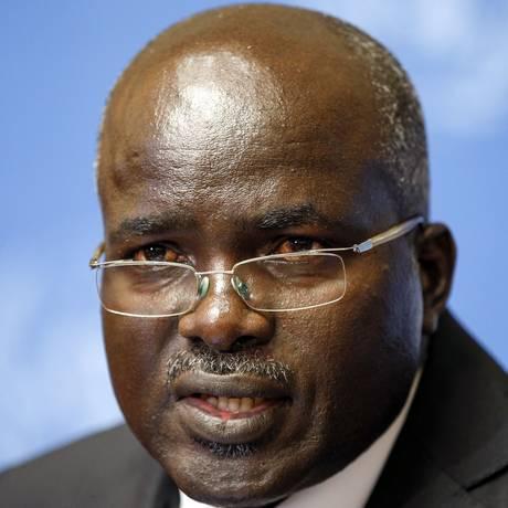 Gervais Rufyikiri considera um terceiro mandato do presidente Pierre Nkurunziza inconstitucional Foto: FABRICE COFFRINI / AFP