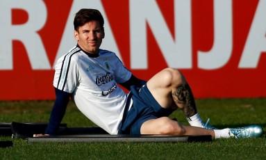 Messi é a principal arma da Argentina para conquistar o título Foto: MARCOS BRINDICCI / REUTERS