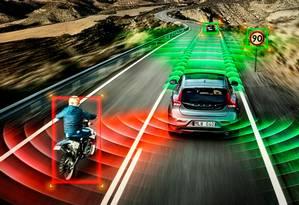 Sistema do carro autônomo da Volvo Foto: Henrik Ottosson / Divulgação/Volvo