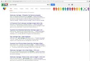Google cria barra em apoio ao casamento gay Foto: Reprodução