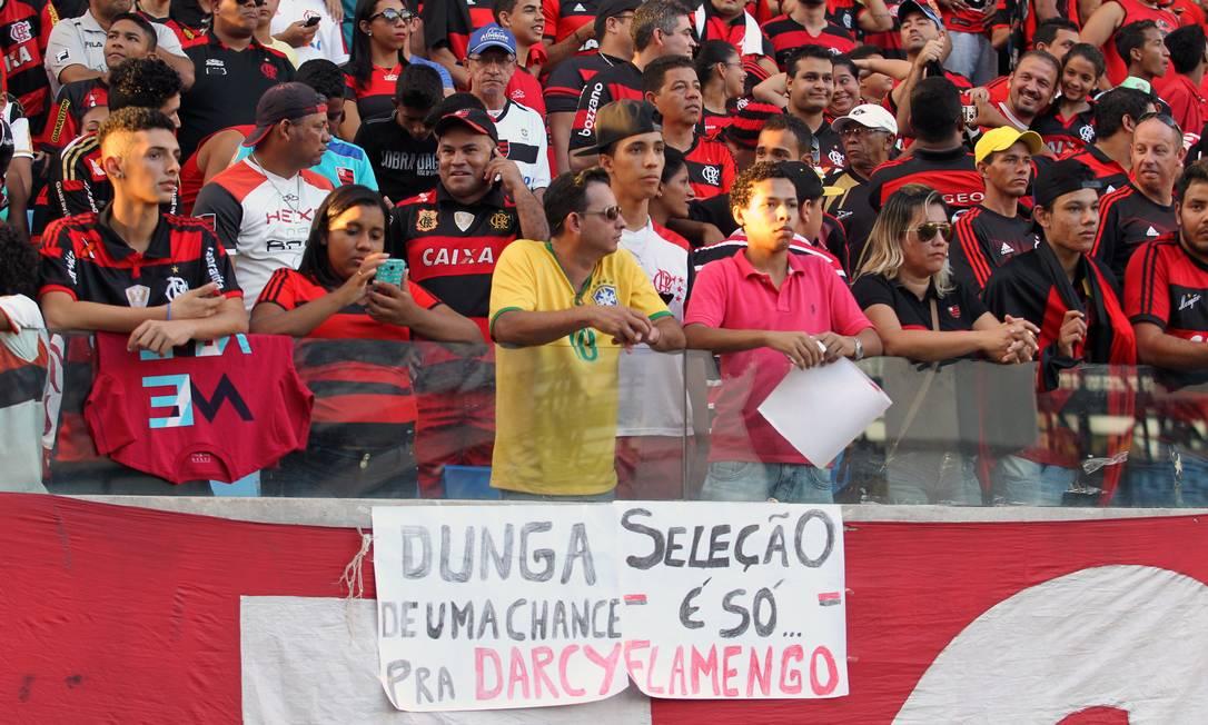 Torcida do Flamengo presente à Arena Pantanal Jorge William / Agência O Globo
