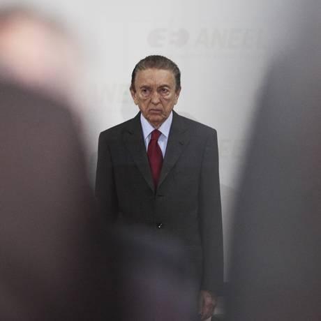 Edison Lobão: acusado de receber propina quando ocupava o cargo de ministro de Minas e Energia Foto: Jorge William/14-2-2013