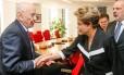 Nova Iorque - EUA, 29/06/2015. Presidenta Dilma Rousseff durante encontro com Rupert Murdock, dono do Grupo News Corporation. Foto: Roberto Stuckert Filho