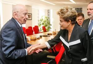 Nova Iorque - EUA, 29/06/2015. Presidenta Dilma Rousseff durante encontro com Rupert Murdock, dono do Grupo News Corporation. Foto: Roberto Stuckert Filho Foto: Roberto Stuckert Filho / presidência da República