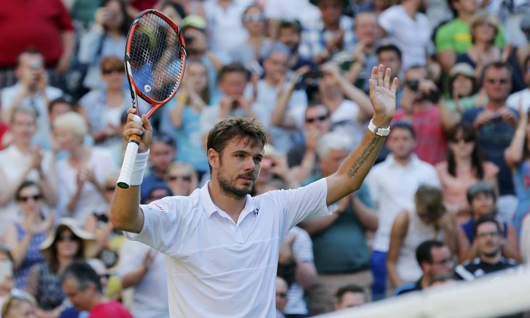 Campeão em Roland Garros, no início do mês, o suíço Stan Wawrinka SUZANNE PLUNKETT / REUTERS
