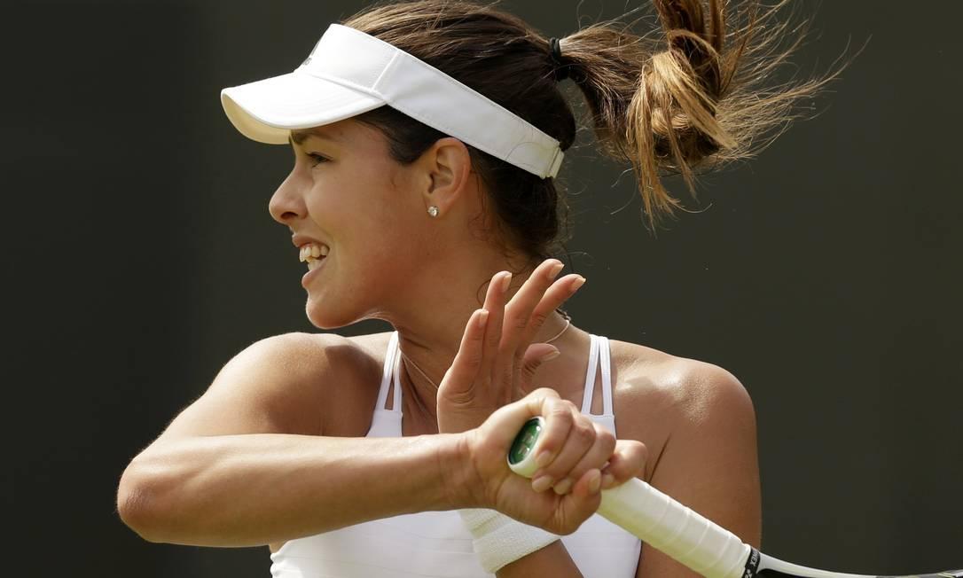A sérvia Ana Ivanovic foi uma das favoritas que venceram fácil na estreia em Londres HENRY BROWNE / REUTERS