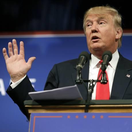Pré-candidato do Partido Republicano, Donald Trump, tem feito declarações polêmicas Foto: Charlie Neibergall / AP
