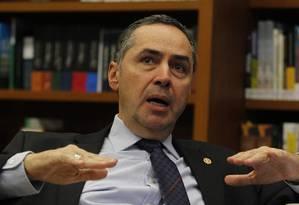O ministro Luís Roberto Barroso, do Supremo Tribunal Federal Foto: Givaldo Barbosa / Agência O Globo