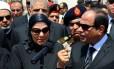 Presidente egípcio Abdel Fattah al-Sisi discursa após funeral do procurador-geral Hisham Barakat