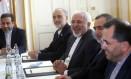 Javad Zarif em reunião em Genebra Foto: CARLOS BARRIA / AFP