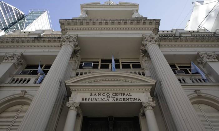 O Banco Central da Argentina, em foto tirada em julho do ano passado Foto: Diego Levy / Bloomberg