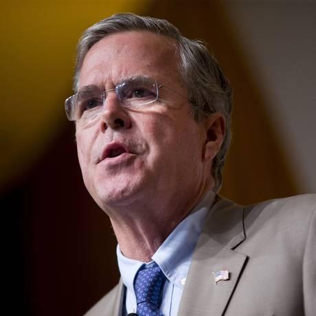Ex-governador da Flórida, o republicano Jeb Bush critica decisão de reabertura das embaixadas em Cuba e EUA Foto: Pablo Martinez Monsivais / AP