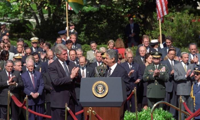 Visita de Fernando Henrique Cardoso aos Estados Unidos em abril de 1995 Foto: Terceiro / Agência O Globo