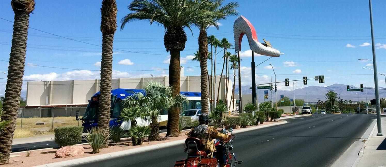 Las Vegas Boulevard, na direção norte Foto: Joana Dale / Agência O Globo