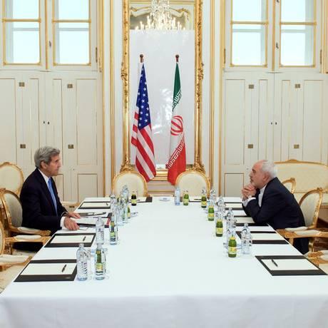 Kerry e Zarif voltaram a se encontrar em Viena Foto: -- / AFP