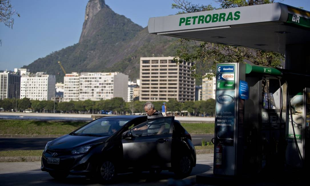 Posto de combustíveis da BR Distribuidora, na zona sul do Rio Foto: Dado Galdieri / Bloomberg